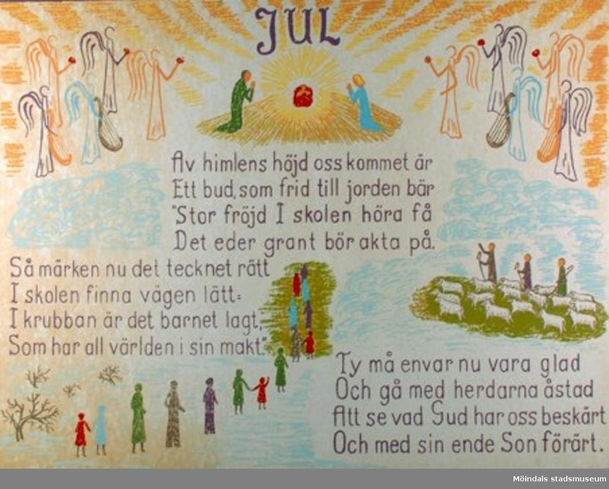 Kristendomskunskap.Jul.Av himlens höjd oss Kommet är.....Psalm 63.