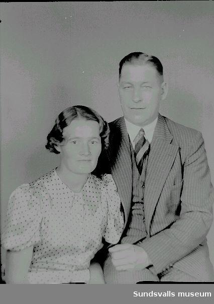 Porträtt, man och hustru.