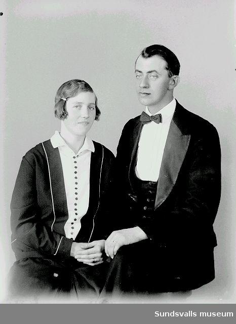 Porträtt, man och kvinna.