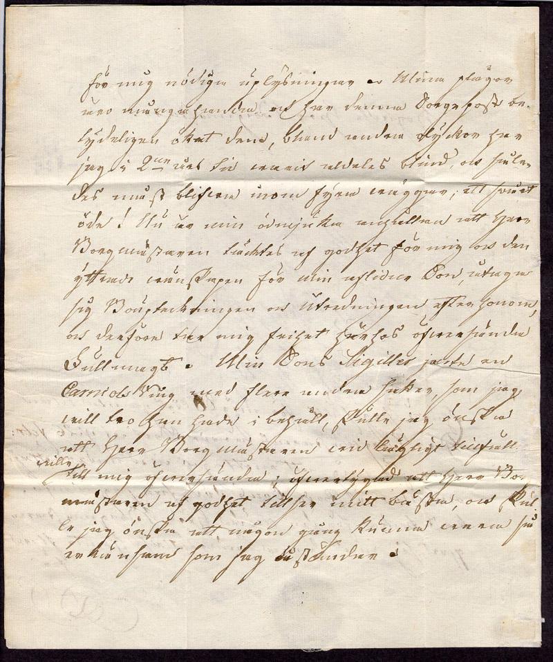 Förfialtelistiskt privatbrev skickat från Vadstena till Borgmästaren Heggroth i Säter den 4 mars 1826  Stämpeltyp: Normalstämpel 4