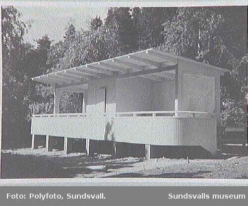 Ligghall vid Vårdhemmet för tuberkulossjuka,Villagatan 16.