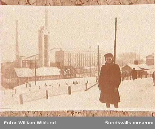 Ovanför fabriken i Svartvik. Anna Lisa Wiklund.