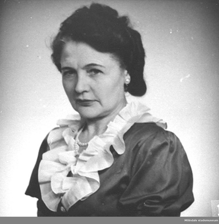 Karin Hasselberg (1903 - 1996), 1940-tal. Hon började arbeta på Stretereds skolhem 1924 och slutade på 1960-talet.