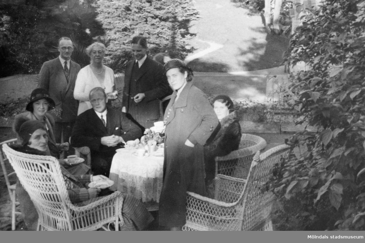 Från arkitektbesöket på Gunnebo slott, aug/sept 1932.