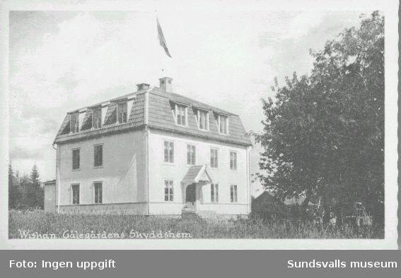 """""""Wiskan. Gälegårdens Skyddshem"""". Vykort Gälegården."""