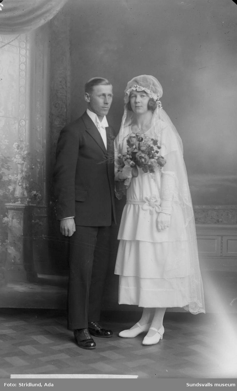 Gunnar Englund, politiker, med hustrun Ida.