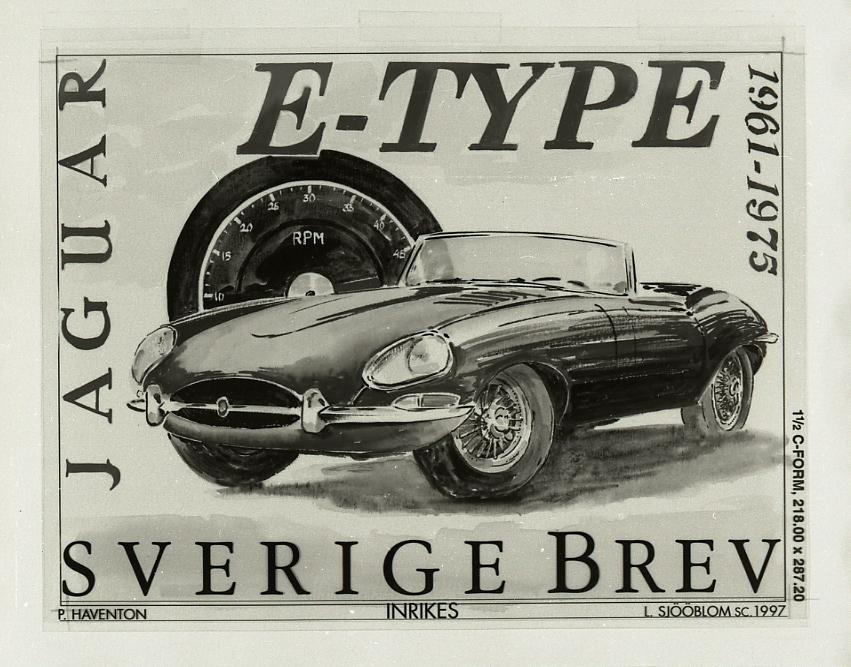 Bilar, Jaguar E-type 1961, 1997.