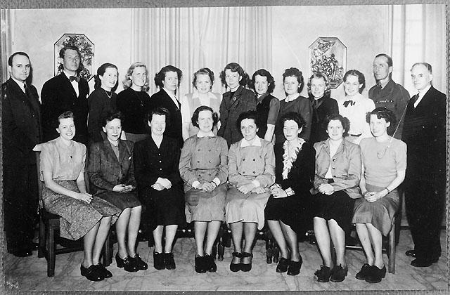 Postverkets första fältpostkurs för kvinnlig personal april 1948.