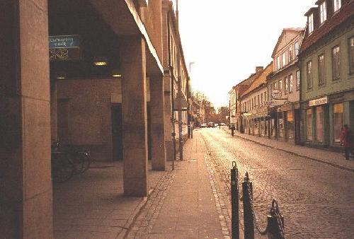 Brevlåda i centrala Lund