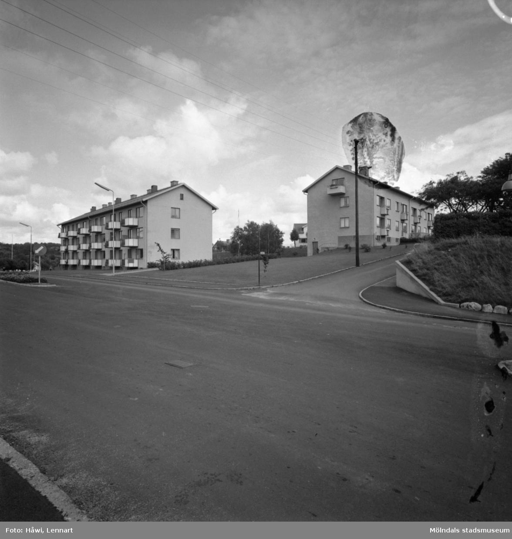 Stensjögatan 22 och 24 i Mölndal, 28/8 1957.