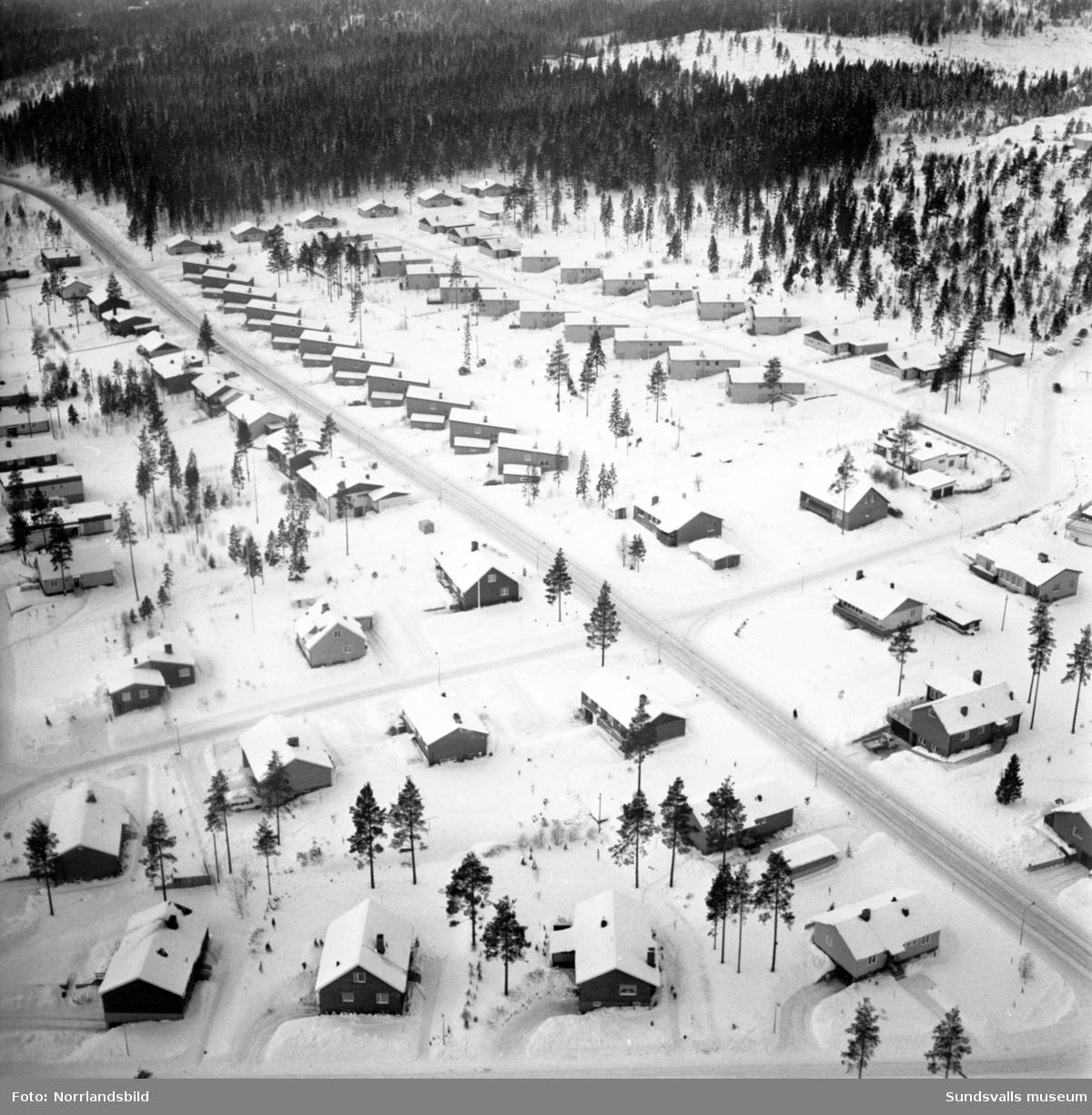 Flygfoton över villaområdet i Bydalen, Hemmansvägen, Jungmansvägen