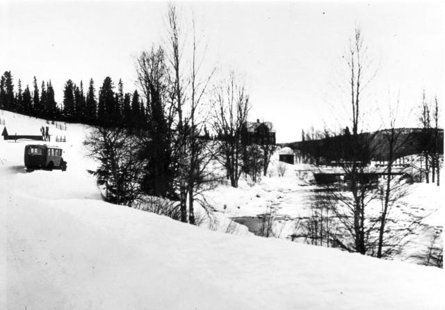 Linjen Östersund - Valsjöbyn Häggsjövik.