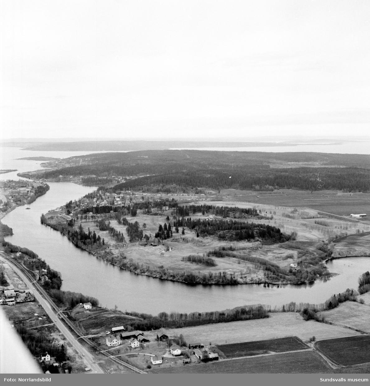 Flygfoto över Skottsunds golfbana.