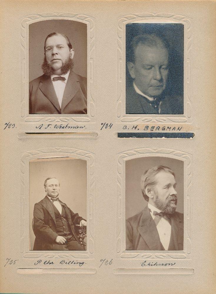 Porträtt av en herr Eriksson, vaktmästare vid postkontoret i Göteborg 1872.