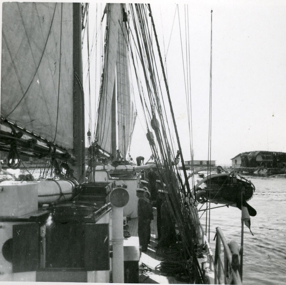 Skolfartyget Gladan i England.