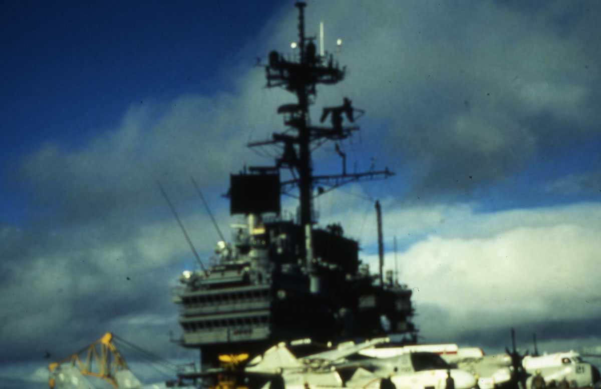 Amerikansk hangarskip av Forrestal - klassen og heter Forrestal med nr. AVT 59.