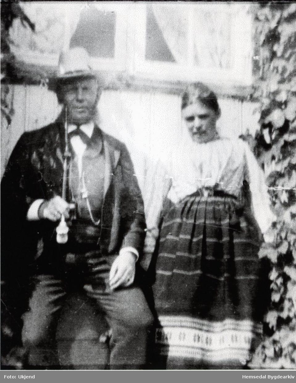 Sokneprest Peder Holtermann Rynning og kona, Sara Coldevin Fredriksen