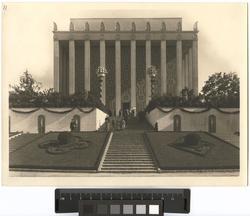 Göteborgs Jubileum (Minnesutställningen), 1923 Exteriör. Gö