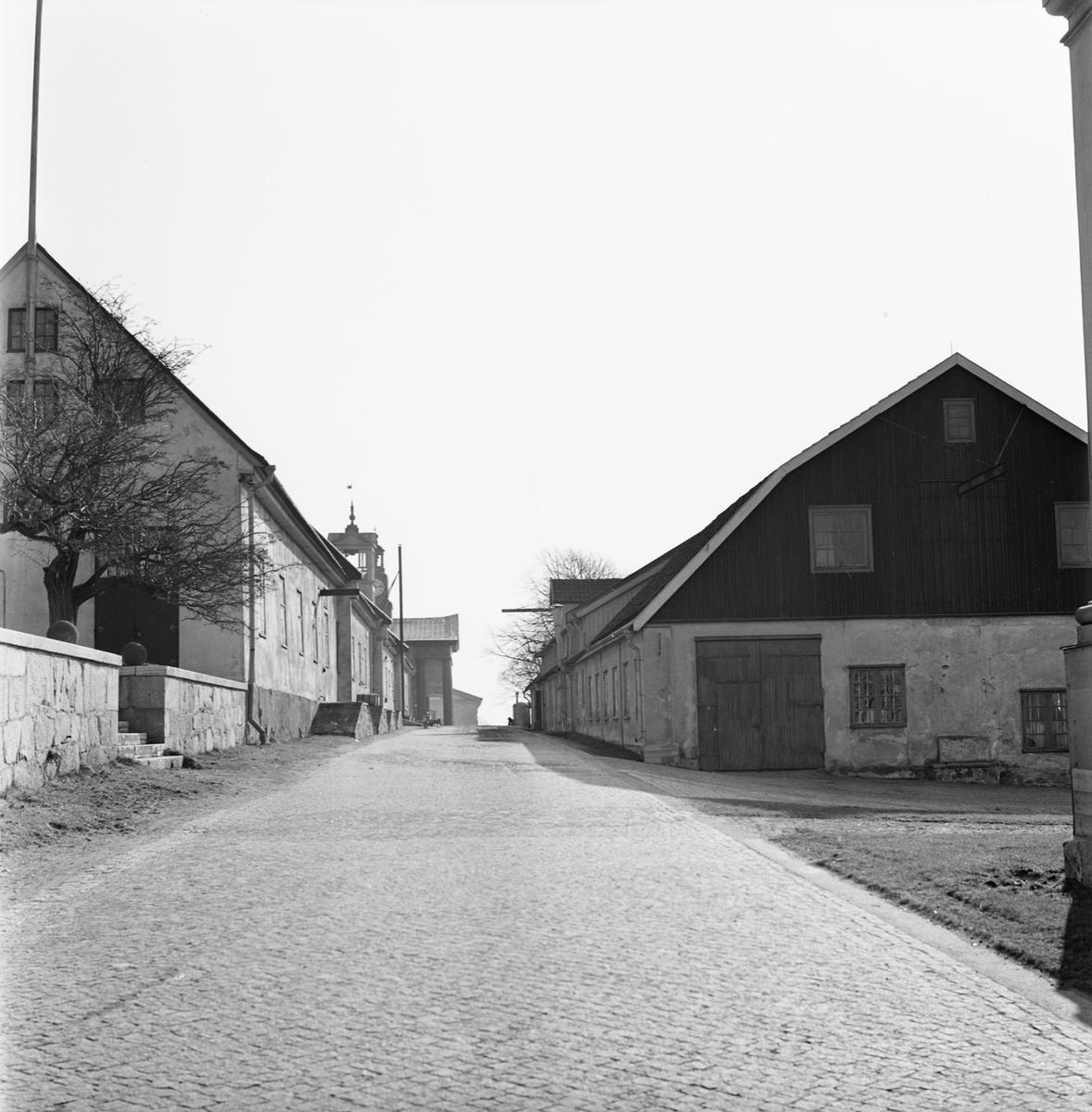 Övrigt: Fotodatum 6/4 1964 Byggnader och Kranar Kansligatan byggnader