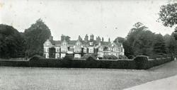Slott, hage, park, engelsk landskap