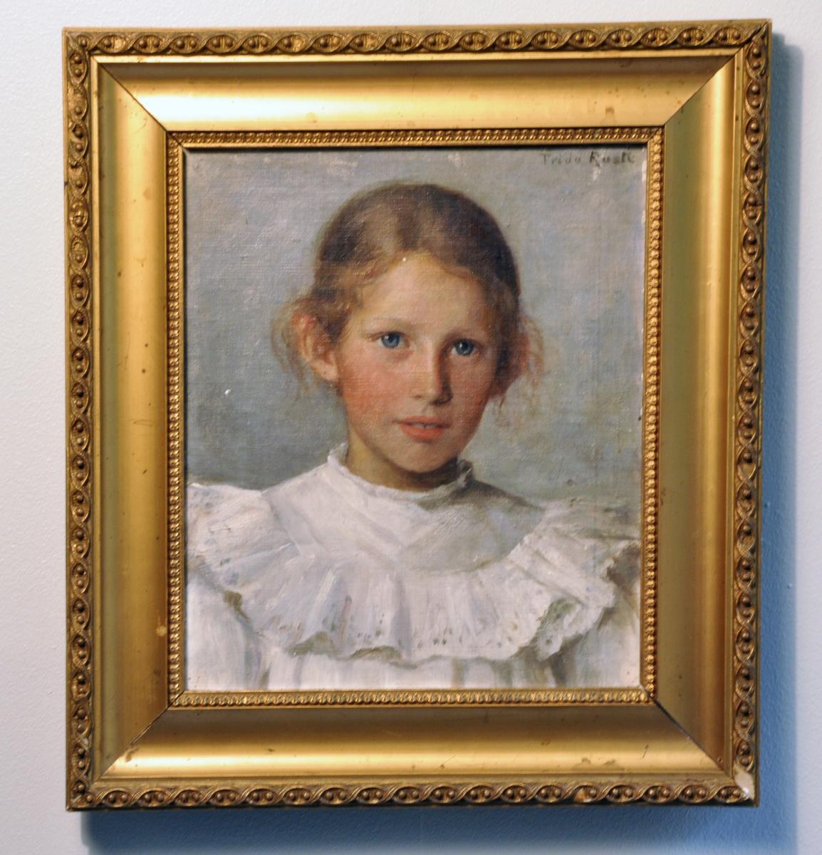 Portrett av Ingeborg Flood Rusten som barn.