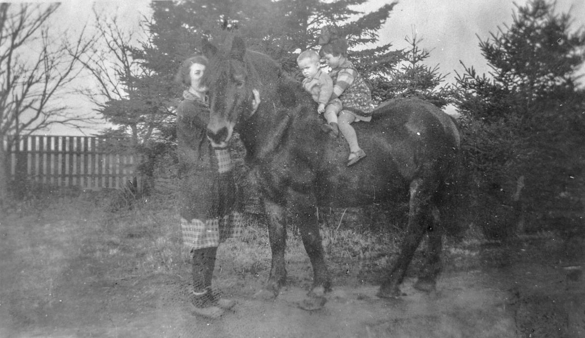 Mor, barn, hest