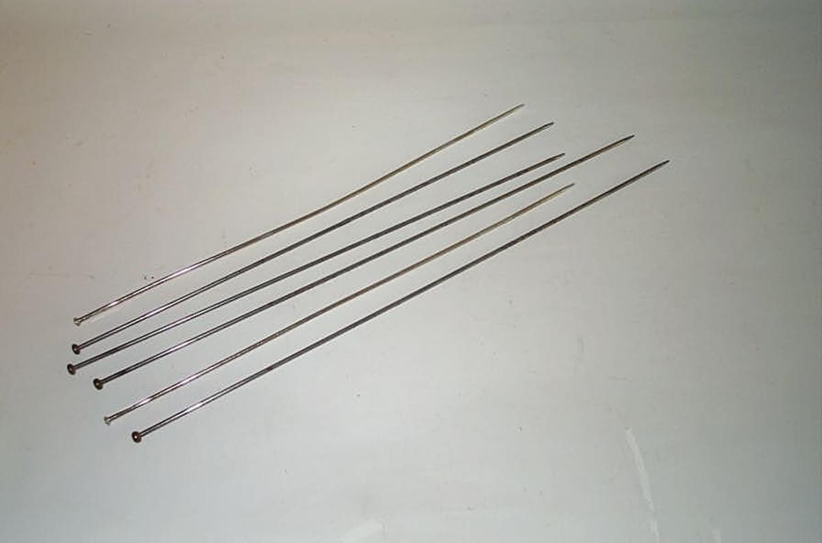 Strikkepinne x 6