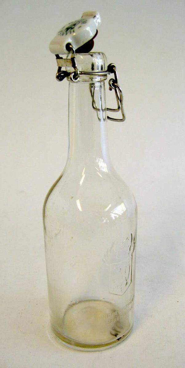 Flaske med patentkork