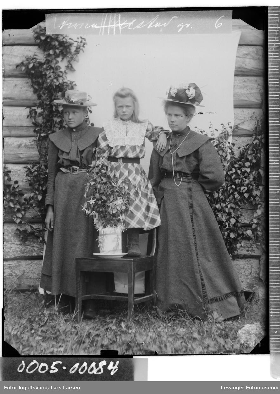 Gruppebilde av to kvinner og et barn.