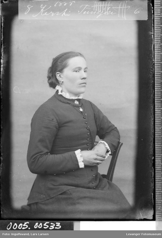 Portrett av en kvinne.