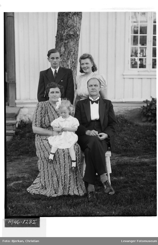 Bestyrer Hoøen med familie