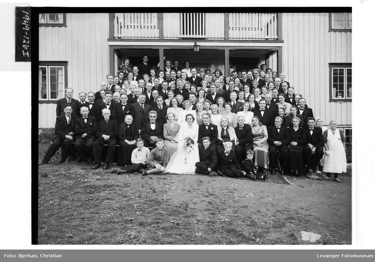 Brudeparet Fagerli med gjester