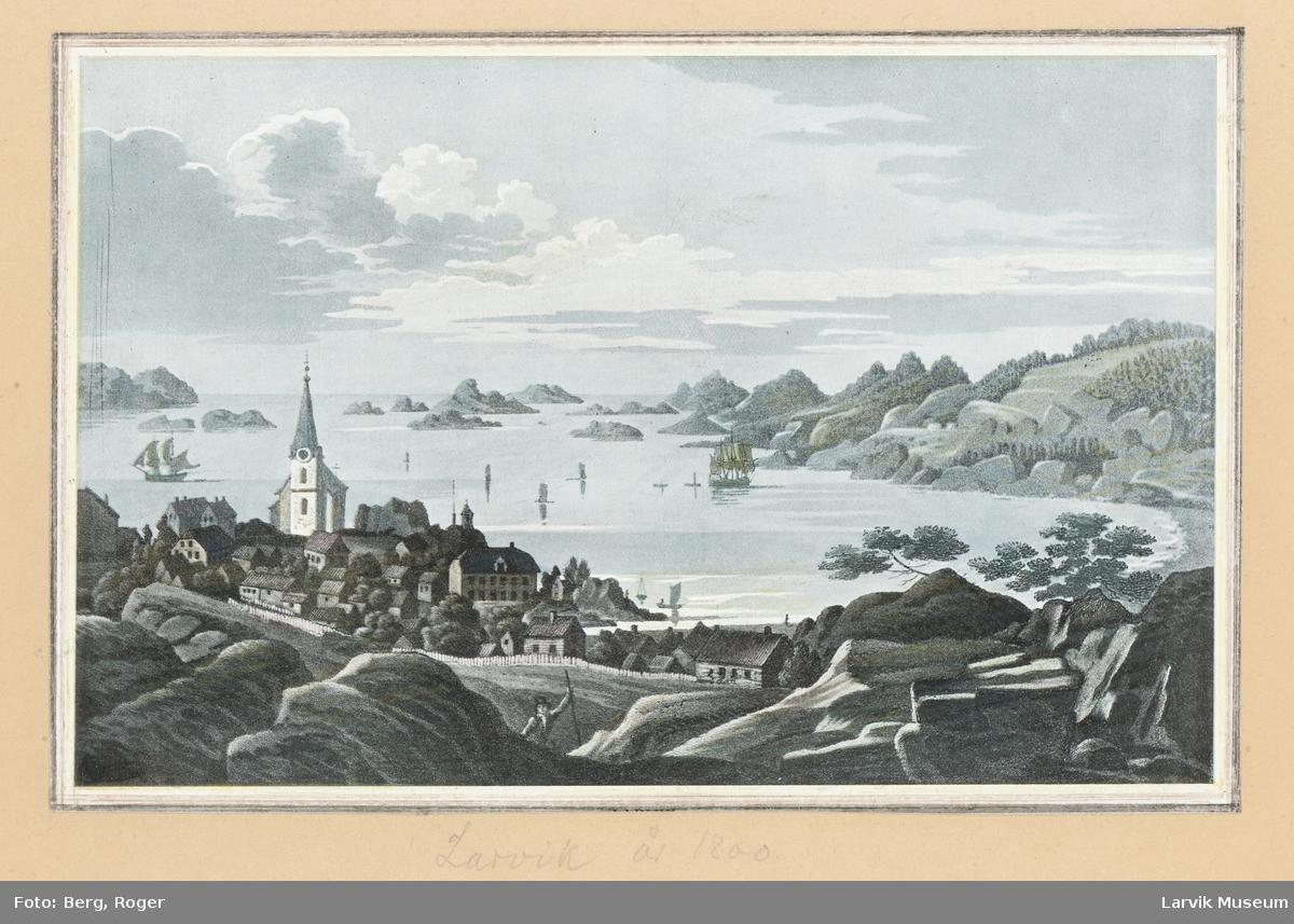 Larvik, fjorden, Larvik kirke