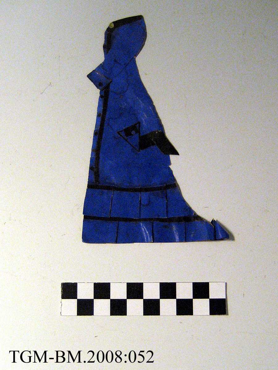 Papirdukkekjole, hører til papirdukke, dame - TGM-BM.2008:050