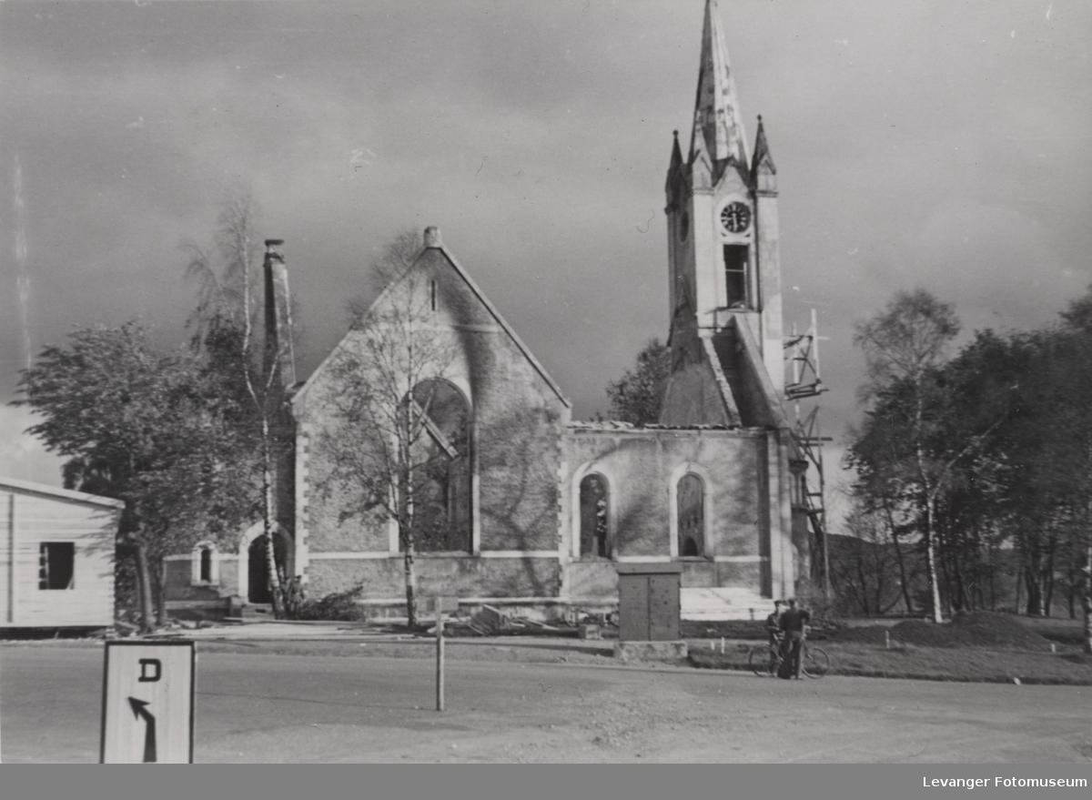 Utbmbet kirke i Steinkjer.
