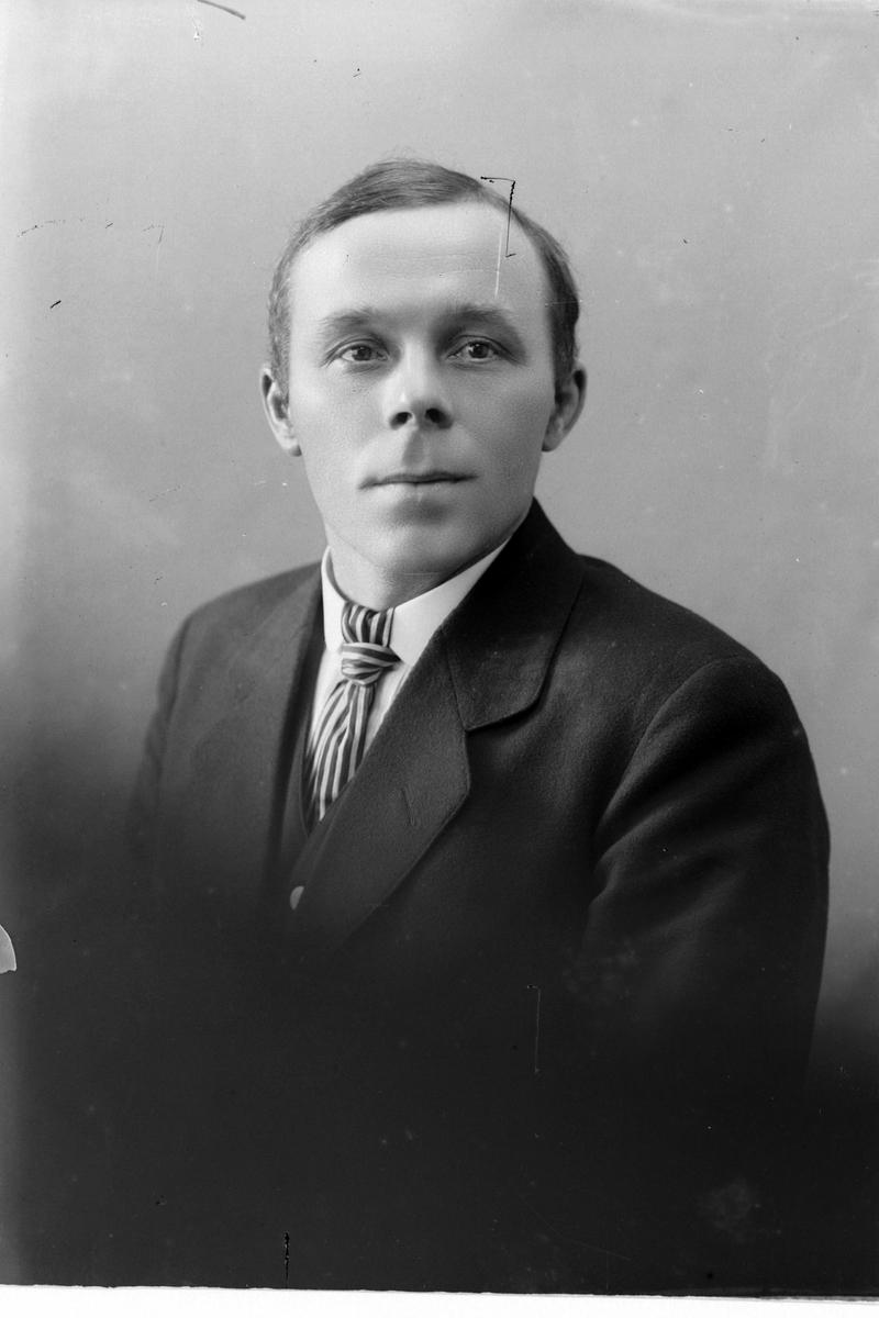 Studioportrett av en mann i halvfigur.