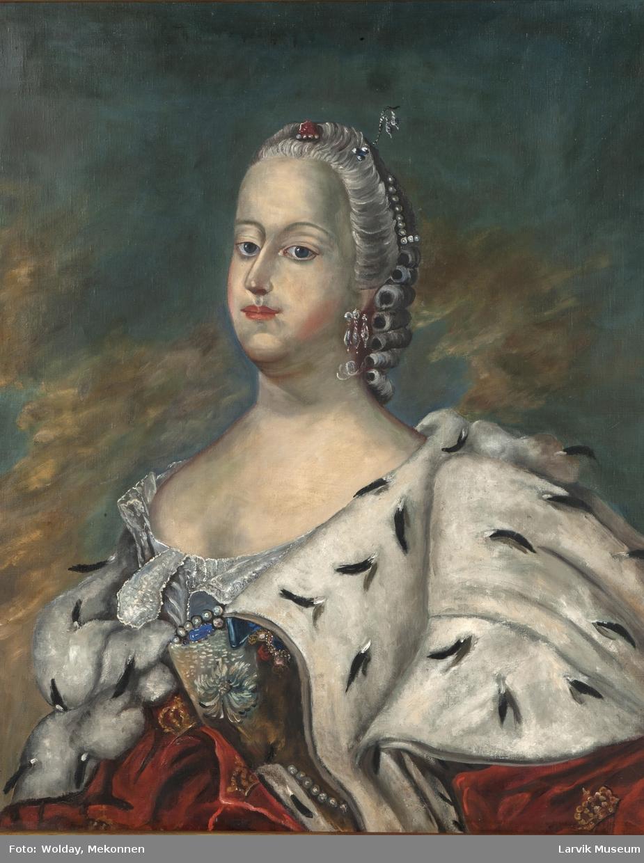 Dronning Louise i hermelinskåpe