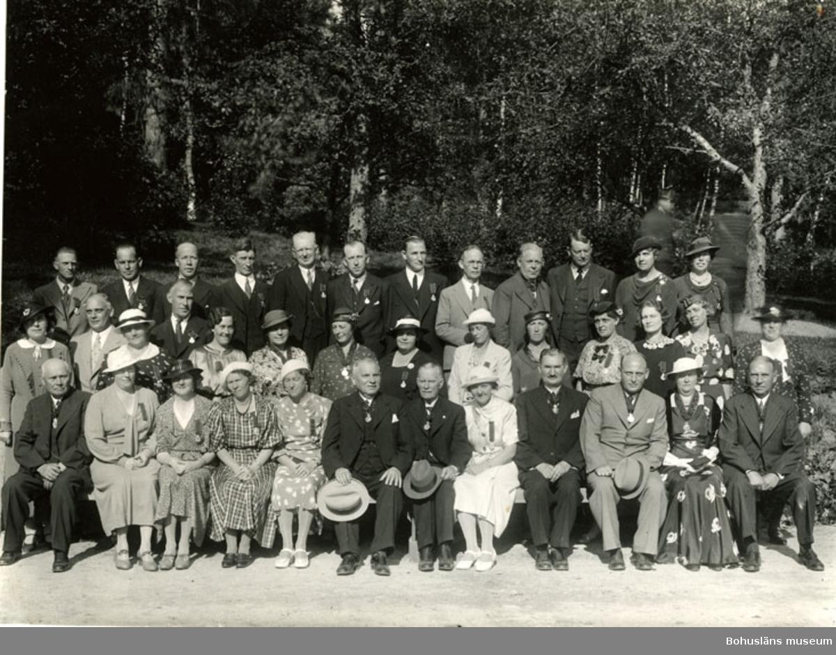 Personal som fått medalj för 25-års tjänst, Schwartzman & Nordström; Tigerfabriken, Uddevalla