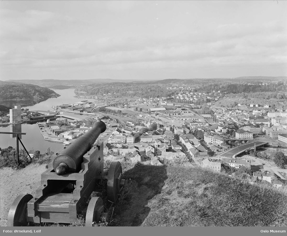 utsikt, by, bebyggelse, kanon