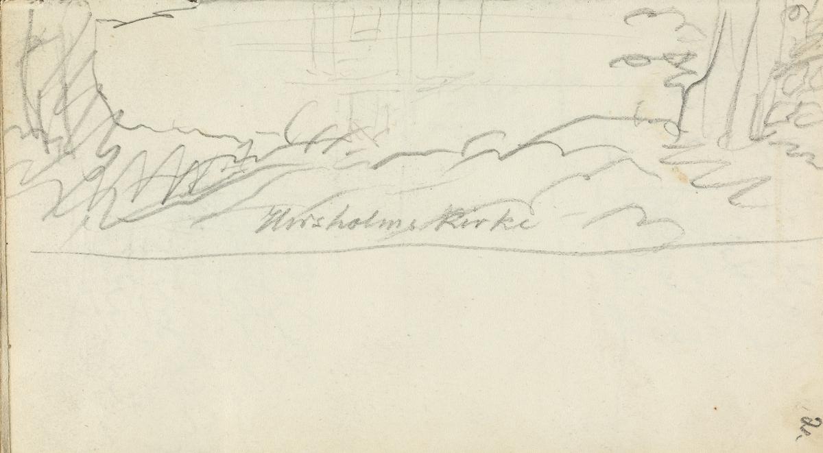 Hørsholms kirke (detalj) [Tegning]