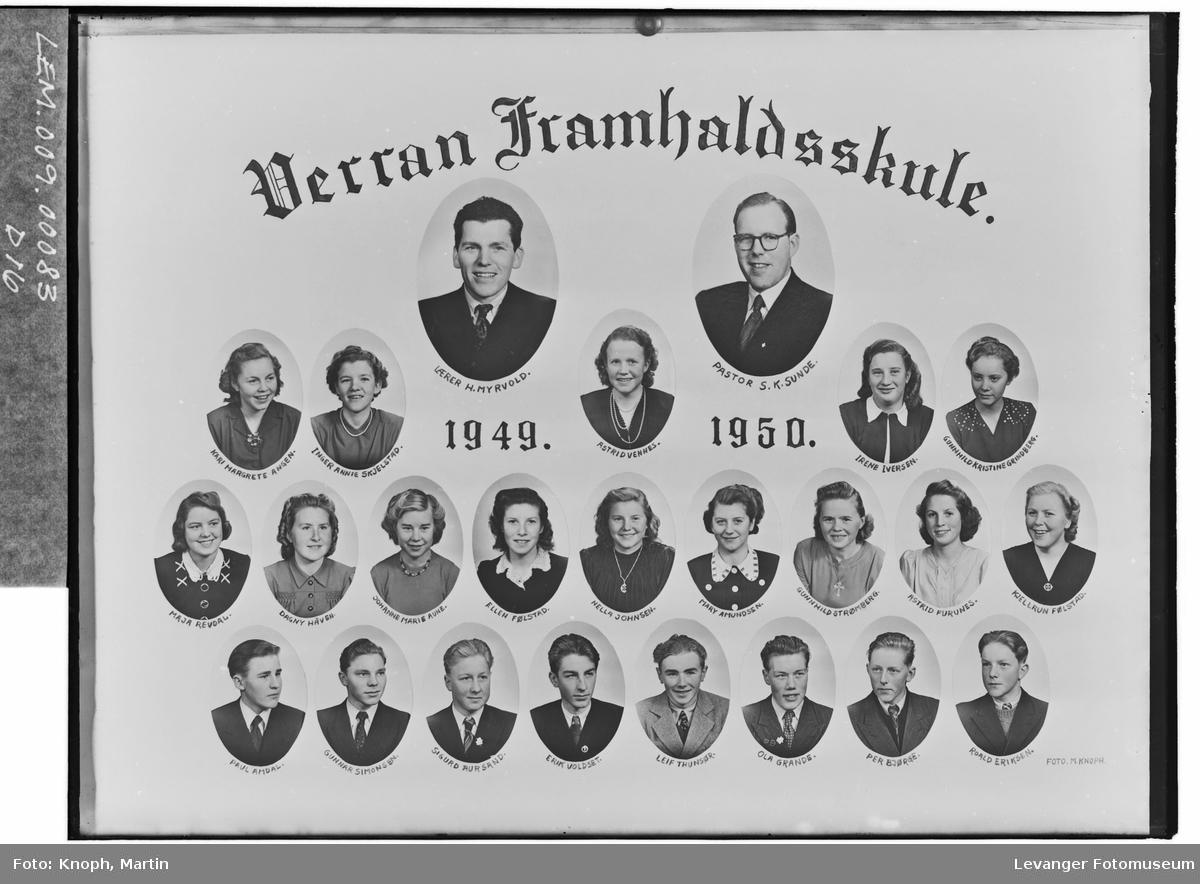 Verran Framhaldsskule, 1949-50
