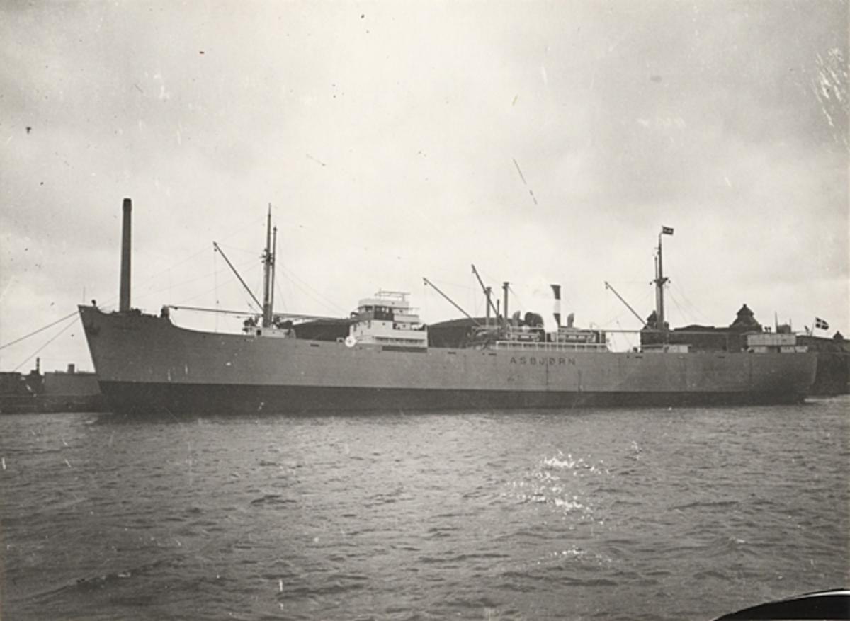 Lastmotorfartyget ASBJÖRN av Köpenhamn.
