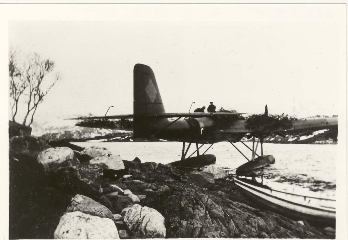 Tysk bombefly, HE 115,  nødlandet ved Brønnøysund 13. april 1940.