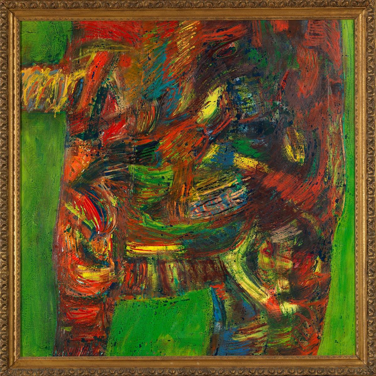 Grønt vegmerke [Maleri]