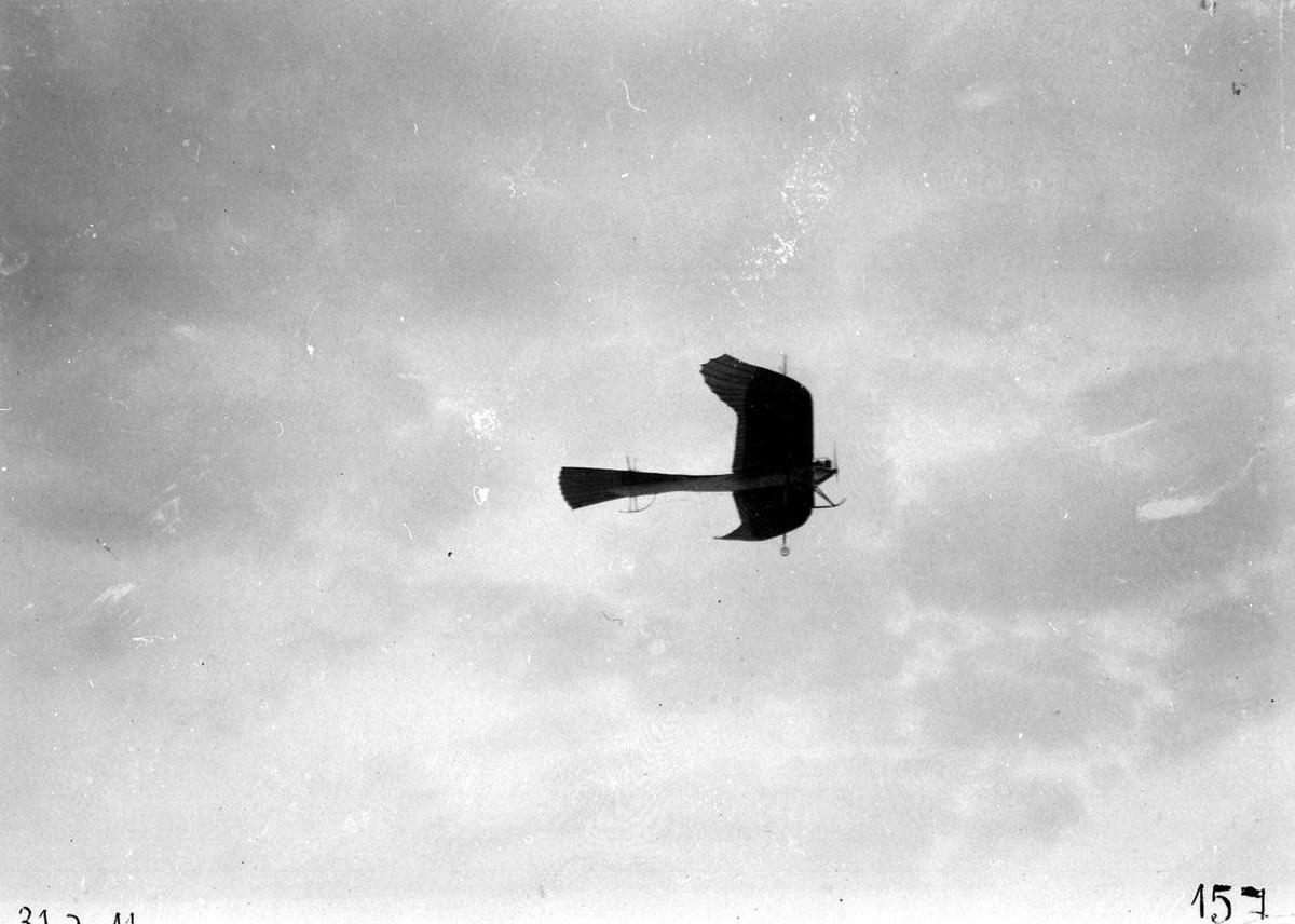 """Ett fly i lufta, Rumpler """"Taube""""."""