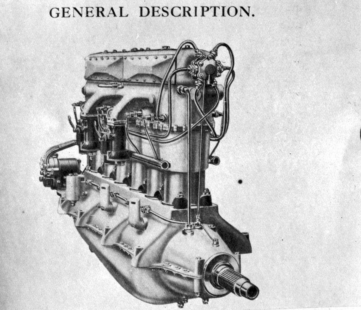 Motor. Flymotor Siddeley Puma