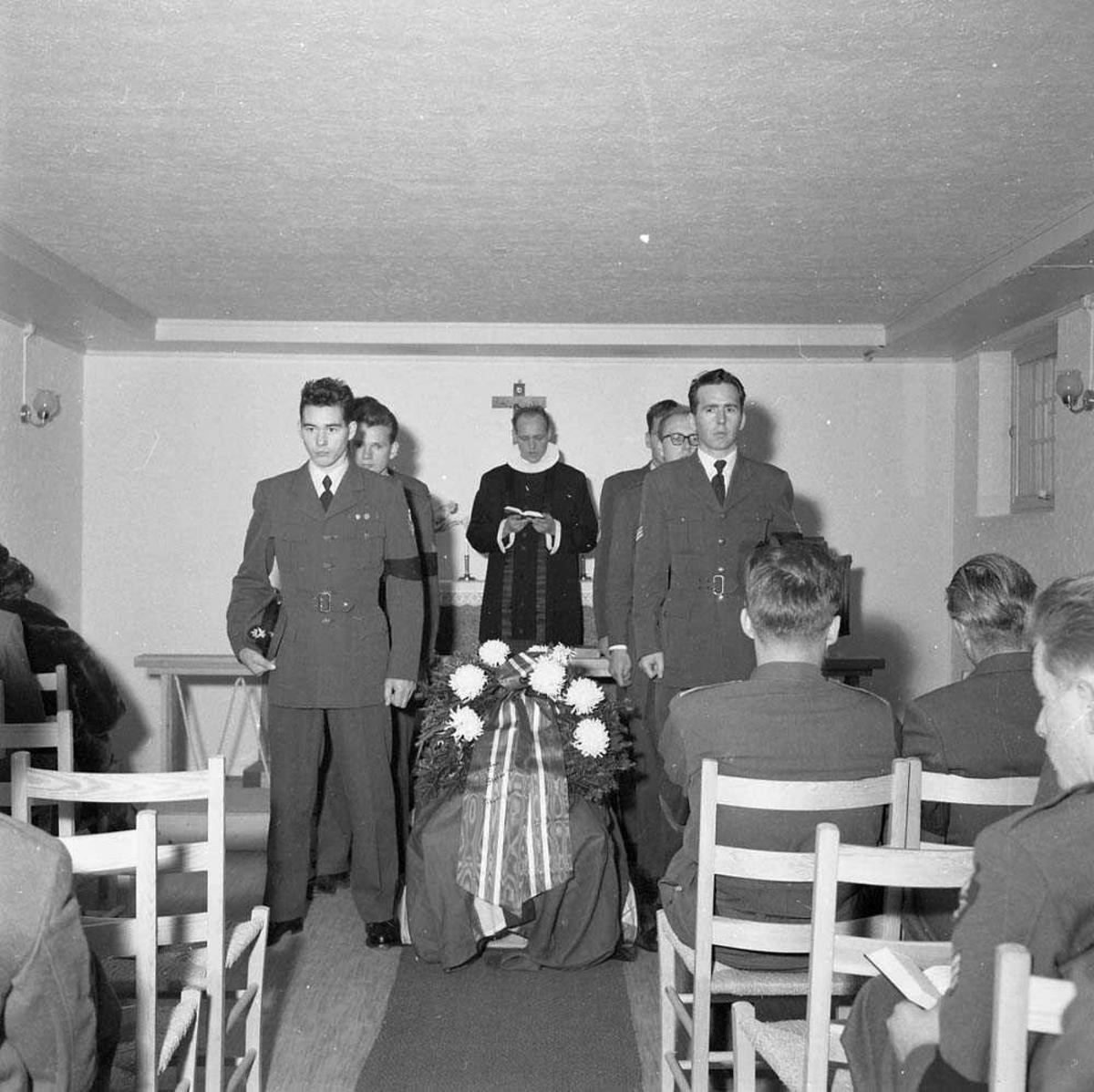Begravelsen til Sersjant Brandvoll.