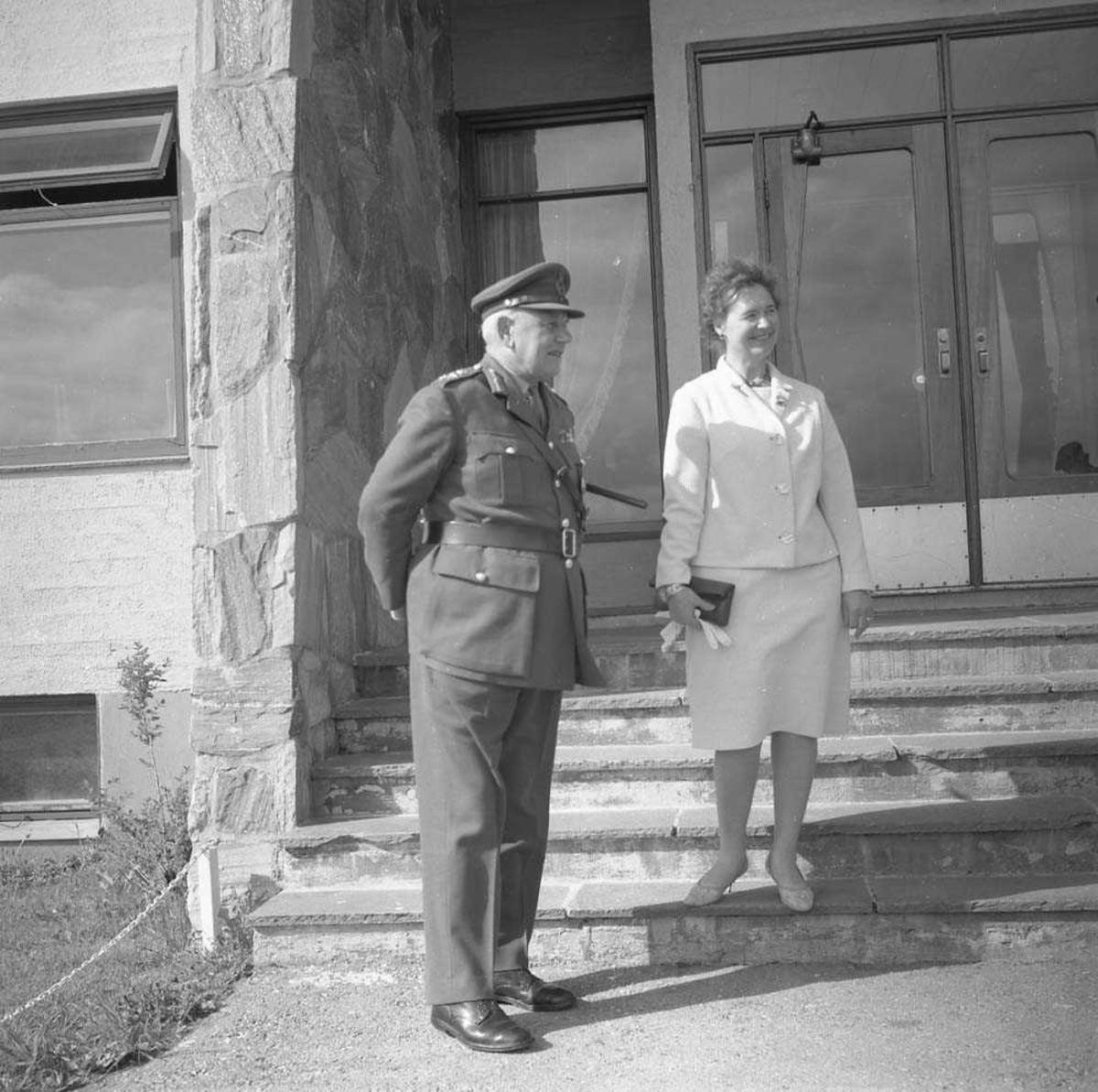 """General Bray besøker Bodø flystasjon under øvelsen """"Polar Express""""."""