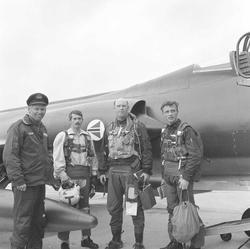 Første CF-104 Starfighter til 334 skvadron, Bodø flystasjon.