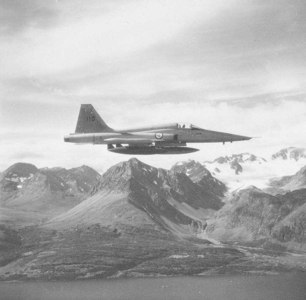 RF-5A Freedom Fighter, Fotorekognoseringsfly, tilhørende 717 skvadron, Rygge flystasjon.